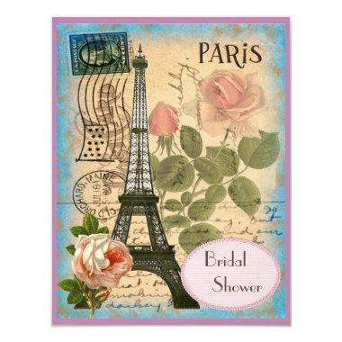 Pairs Eiffel Tower & Roses