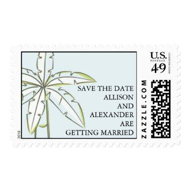 Palm Tree Save The Date Postage Stamp