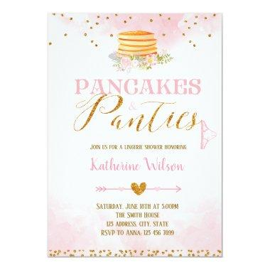 Pancakes and panties lingerie Invitations invitation