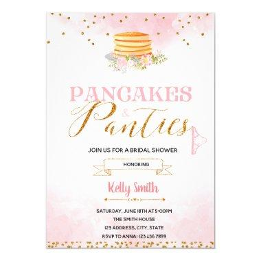 Pancakes and panties lingerie Invitations
