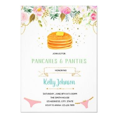 Pancakes and Panties Lingerie Shower Invitations