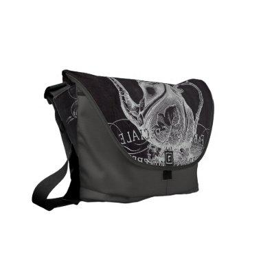 Paris Chalkboard scripts Tea party french country Courier Bag