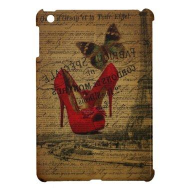Paris eiffel tower fashionista red stilettos case for the iPad mini