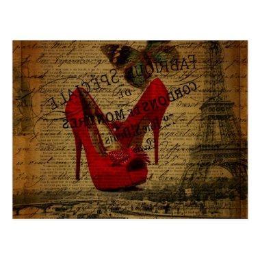 Paris eiffel tower fashionista red stilettos post