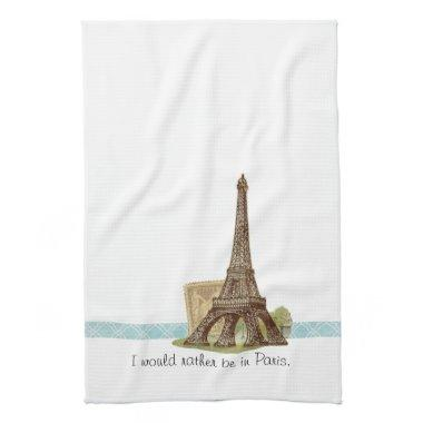 Paris Eiffel Tower Tea Towel Kitchen Towel
