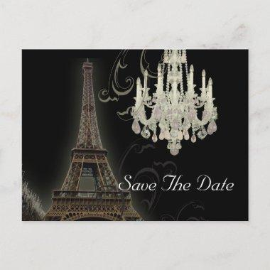 Paris Eiffel Tower wedding save the date Announcement PostInvitations