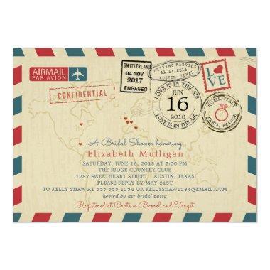 Paris France World Traveler Airmail