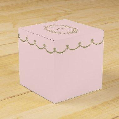Paris | Laduree Inspired Elegant Wreath | Pink Favor Box