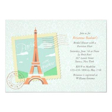 Paris Mon Amour Bridal Shower Invitations