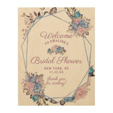 Parisian Charm Floral Bridal Shower Welcome Sign