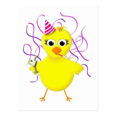 Party Chick Cute & Funny Cartoon Post