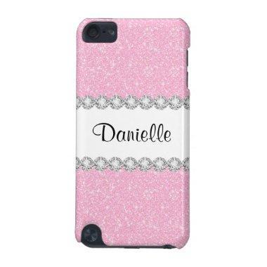 Pastel Pink Glitter Print 5G iPod Touch Case