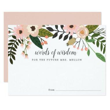 Peach Meadow | Bridal Shower Advice Card