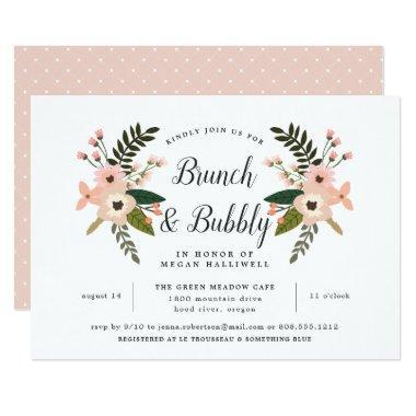 Peach Meadow Brunch & Bubbly  Invite
