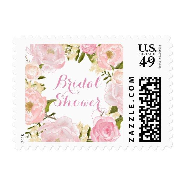 Peach Pink Spring Rose  Stamp