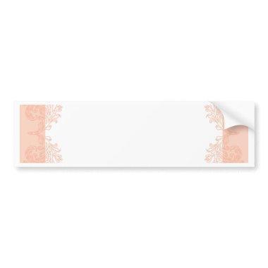 Peach romantic elegant  template bumper sticker