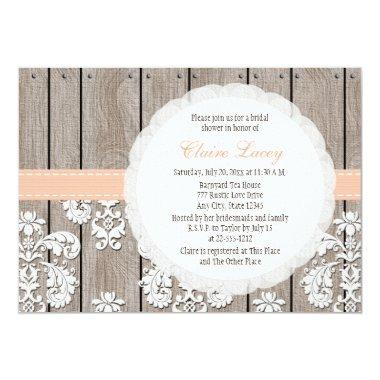 Peach Wood Lace Rustic