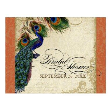 Peacock & Feathers Formal  Orange Post