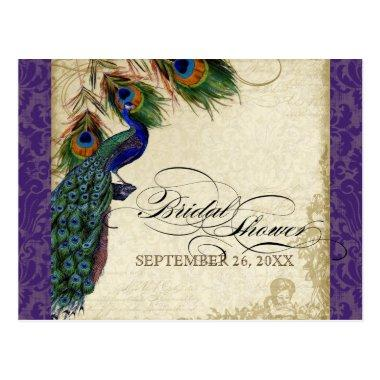 Peacock & Feathers Formal  Purple Post