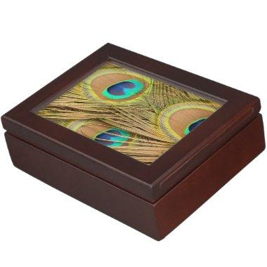 Peacock Feathers Keepsake Box