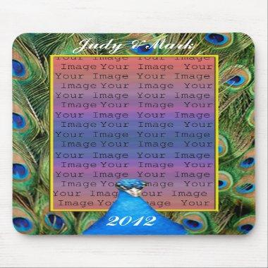 Peacock Wedding Mouse Pad