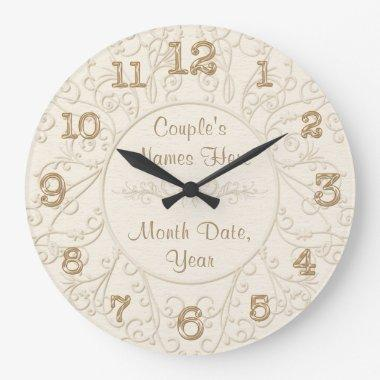 Personal Shower Gift Ideas for the Bride YOUR TEXT Large Clock