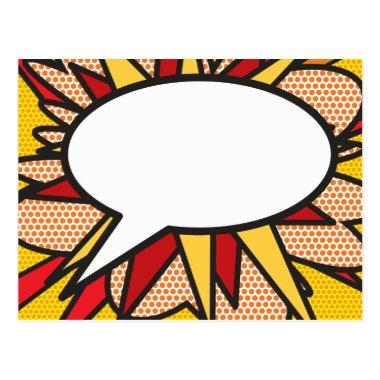 Personalised Comic Book Pop Art Speech Bubble PostInvitations