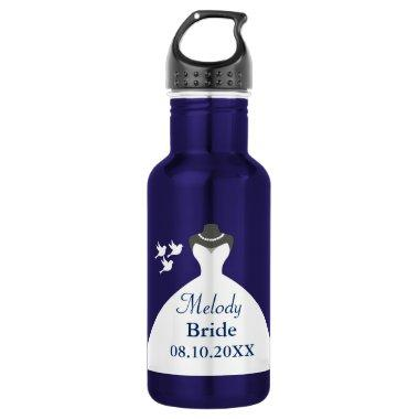 Personalize Bride Wedding Gown Water Bottle
