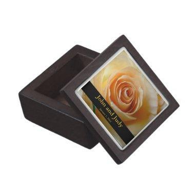 Personalized Apricot Rose Wedding Gift Box
