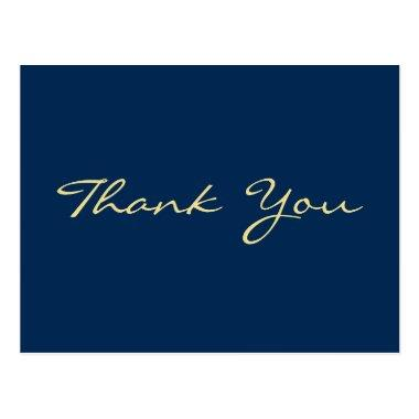 Personalized Blue Graduation Thank You Post