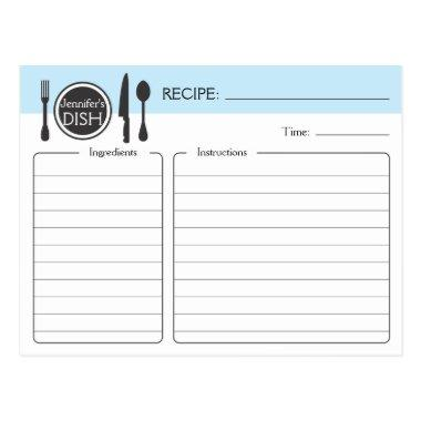 Personalized Bridal Shower Recipe Invitations