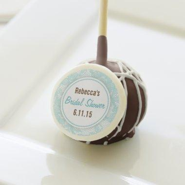 Personalized  with Teal Lace Cake Pops
