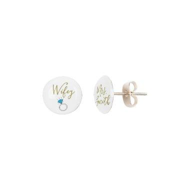 personalized bride/mrs name earrings