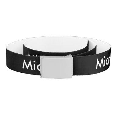 Personalized canvas belt | Add name or monogram