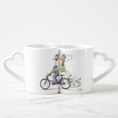 personalized cute wedding couple - giraffes coffee mug set