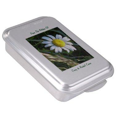 Personalized Daisy Cake Pan