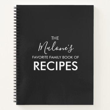 Personalized Family Book of Recipes