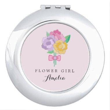 Personalized Flower Girl Compact Mirror