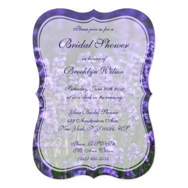 Personalized Lavender  Invite Bracket