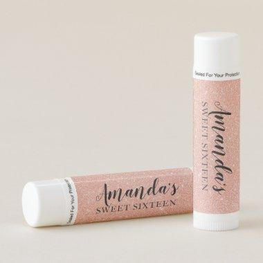 Personalized Lip Balm Party Favor | Rose Gold