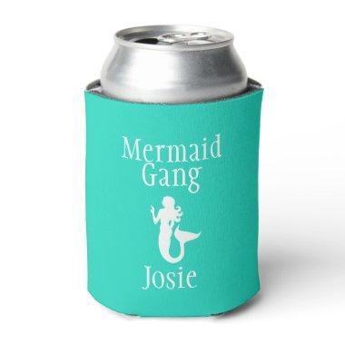 Personalized Mermaid Gang Can Cooler