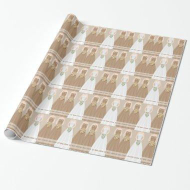 Personalized Mocha  Wrapping Paper