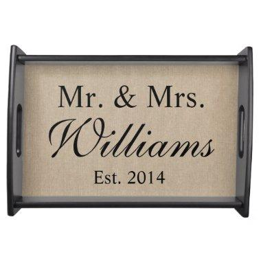 Personalized Mr. & Mrs. Wedding Serving Tray