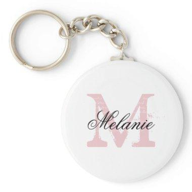 Personalized name monogram letter keychains
