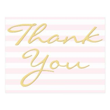 Personalized Note Modern Elegant Stripes Thank You PostInvitations