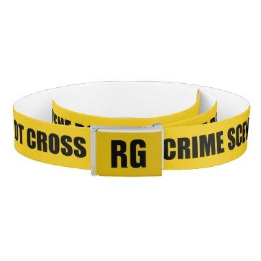 Personalized Novelty Crime Scene Do Not Cross Belt