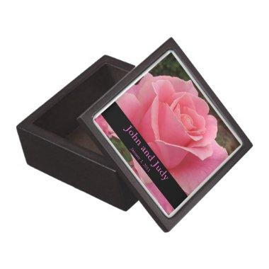 Personalized Perfectly Pink Rose Wedding Gift Box