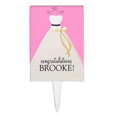 Personalized Pink  Cake Topper