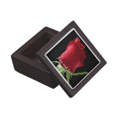 Personalized Red Rose Wedding Gift Box