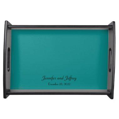 Personalized Serving Tray Turquoise